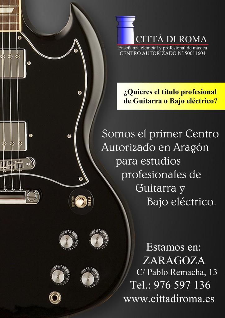 cartel guitarra y bajo